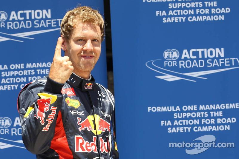 Vettel grabs European GP pole on final flying lap