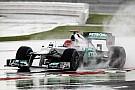 Schumacher rain dances to third fastest in British GP qualifying