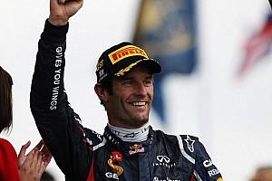 Formula 1 Breaking news Red Bull Racing confirm Mark Webber for 2013