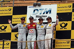 DTM Race report Ekström takes center stage at in Olympic Stadium with win in Munich