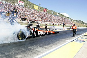 NHRA Race report Tricky track conditions bite Massey