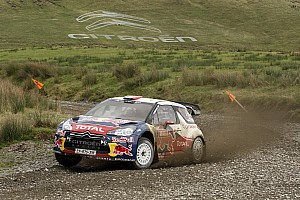 WRC Leg report Citroen's Loeb and Hirvonen ready for second day of Wales Rally challenge