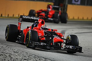 Formula 1 Race report Marussia pleased with Singapore GP results