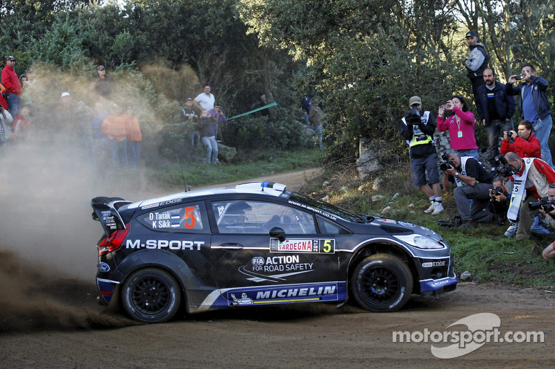 Double podium position: M-Sport pairing refuse to 'tyre' on tough day in Sardinia