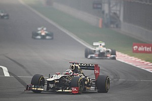 Formula 1 Race report Lotus stuck in the middle on Indian GP