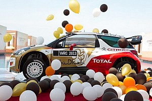 WRC Breaking news Citroën Total Abu Dhabi 2013 livery and lineup: Loeb, Hirvonen, Sordo