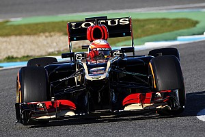 Formula 1 Testing report Lotus E21 took to the track for the first time with Grosjean