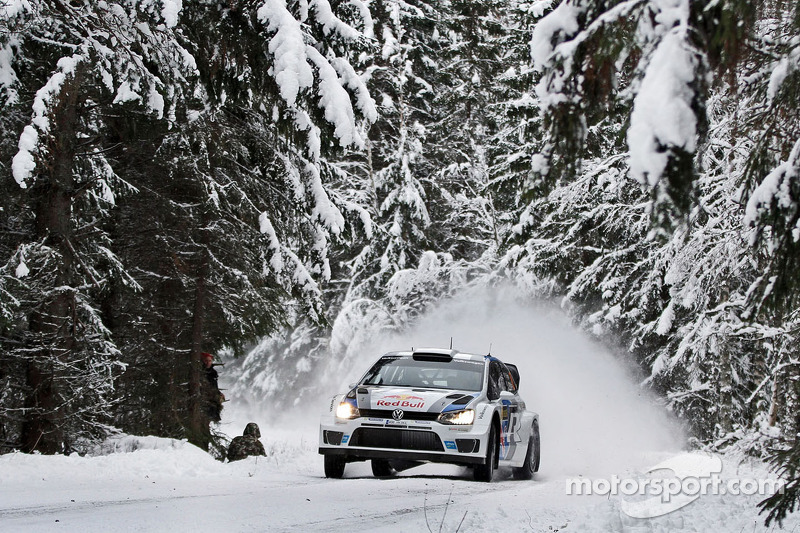 Ogier fastest in his VW Polo in qualifying for Rally Sweden