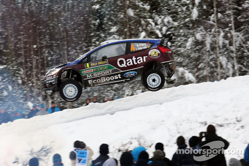 Qatar M-Sport's Østberg charges to third on leg two of Rally Sweden