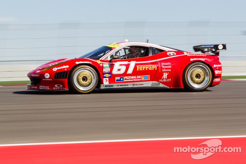 Max Papis qualifies R.Ferri AIM Motorsport Racing with Ferrari F458 on the front row
