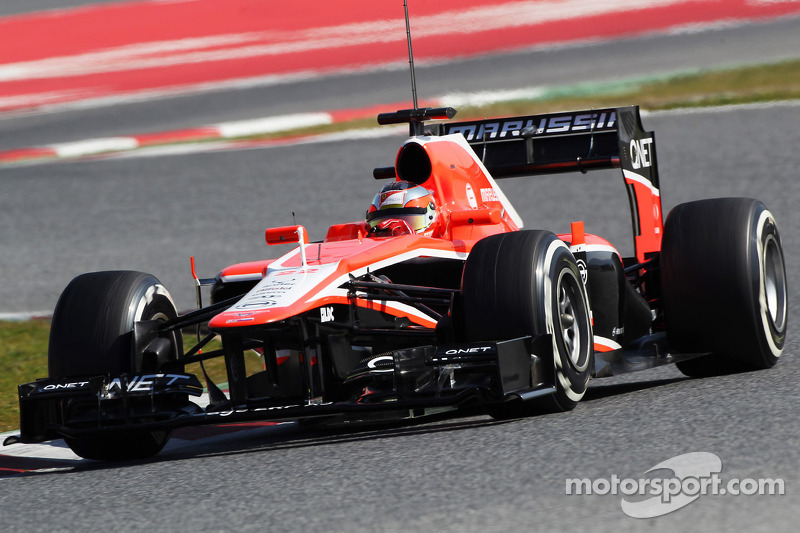 First time for Jules Bianch with Marussia on Day 3 in Barcelona