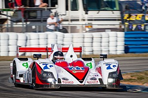 ALMS Race report P2 podium celebrations for Greaves Motorsport in Florida