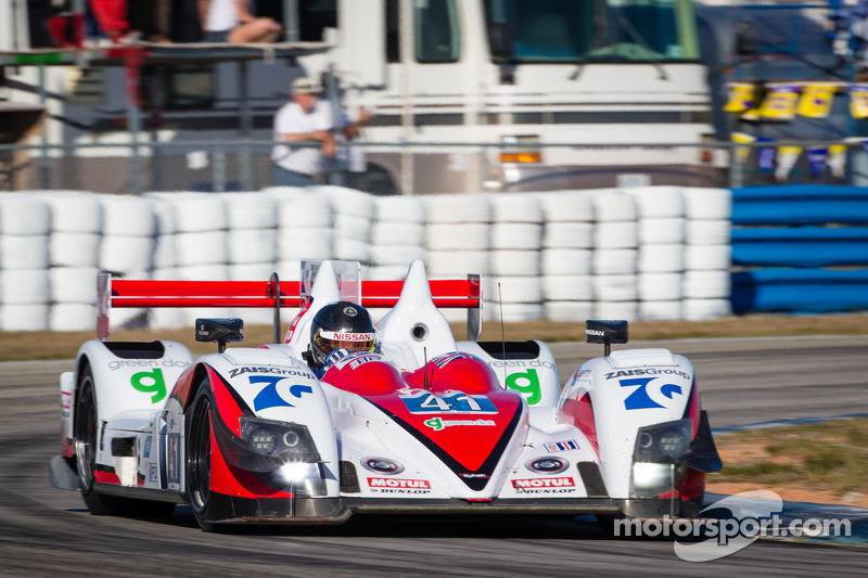 P2 podium celebrations for Greaves Motorsport in Florida