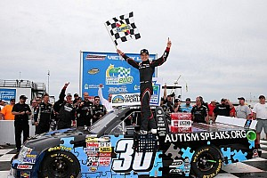 NASCAR Truck Race report Larson claims his first truck win at Rockingham