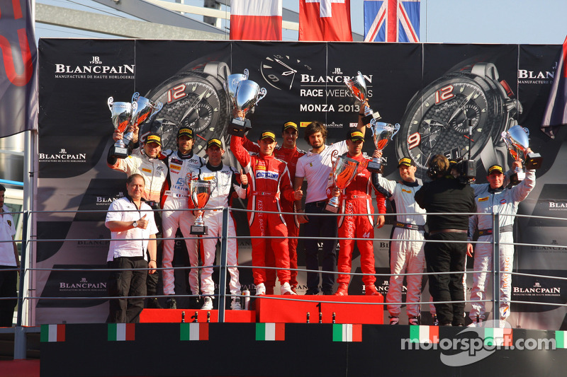 Rigon and his teammates hand Kessel Racing the BES GT win in Monza