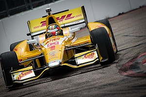 IndyCar Practice report Hunter-Reay tops IndyCar practice run at Long Beach