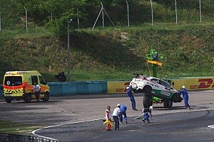 WTCC Breaking news Tarquini up and active after heavy crash in race 2 at the Hungaroring