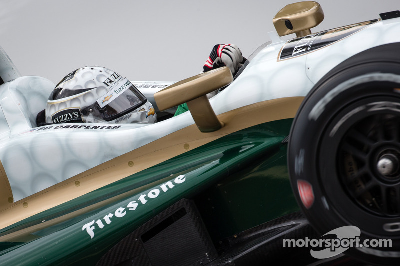 Carpenter sets top speed in opening day of Indy practice
