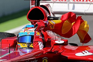 Formula 1 Breaking news Alonso almost penalised for flag waving breach