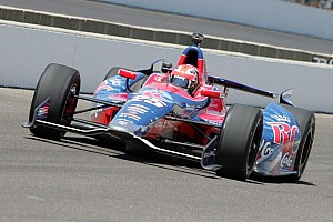 IndyCar Practice report Hinch takes a tow to Tuesday fast lap