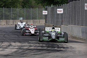 IndyCar Race report Kanaan finishes 12th, De Silvestro crashes on lap 8 in Race 2 of the Dual in Detroit