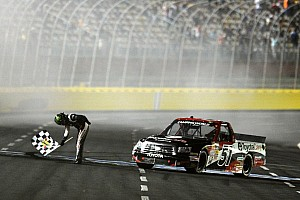 NASCAR Truck Race report Kyle Busch overcomes problems to win at Bristol