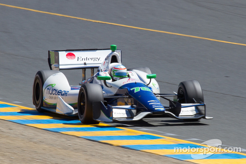 KV Racing Technology's De Silvestro comes from back of field to finish ninth at Sonoma