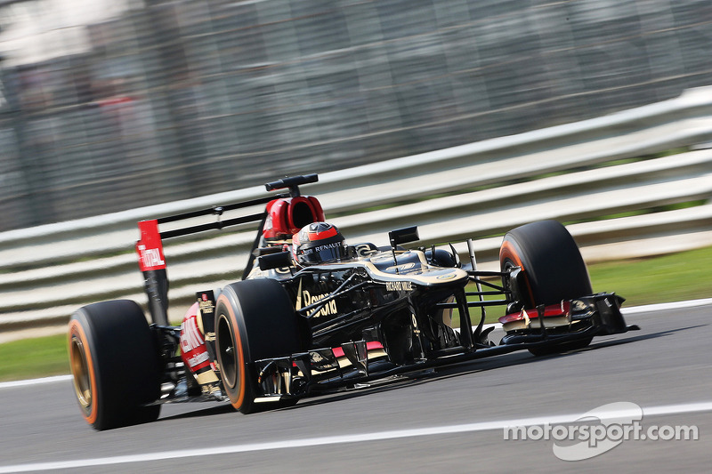 Lotus' Räikkönen ended Friday's practice with the third fastest time in Monza