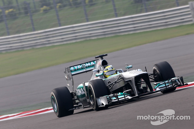 Mercedes AMG Petronas in top 10 of Friday's practice at India
