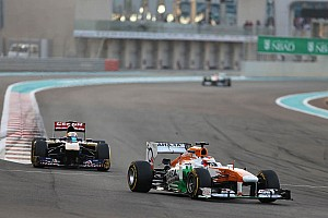 Formula 1 Race report Sahara Force India is top ten in the Abu Dhabi Grand Prix