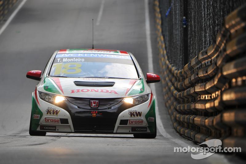 Tiago Monteiro on the front row in Macau