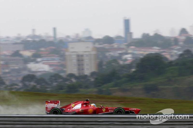 Ferrari: Inevitably wet Friday practice at Interlagos