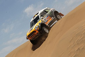 Dakar Stage report Orlando Terranova celebrates his first stage win