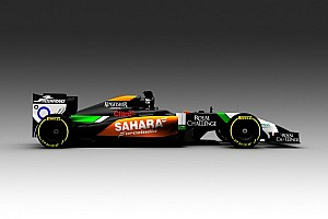 Formula 1 Breaking news Force India gives sneak view of black 2014 car