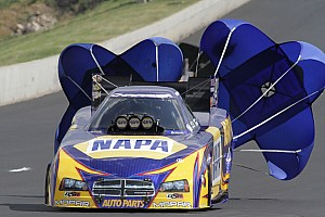 NHRA Qualifying report Fiery qualifying run earns NAPA's Capps No. 3 spot at Pomona