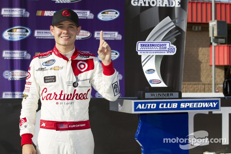 Kyle Larson didn't arrive at Fontana; he was already there