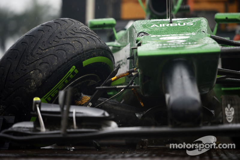 Both Caterham drivers left in Q1 at Malaysia