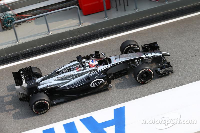 McLaren Mercedes ready for the race in the desert night