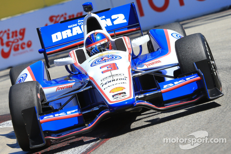 Castroneves earns top-10 start to lead Team Penske qualifying effort at Long Beach