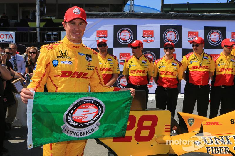 Hunter-Reay Claims Long Beach Pole as Honda Dominates Qualifying