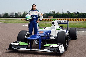 Formula 1 Testing report Day two of Simona in a Sauber F1 car