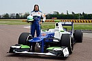 Day two of Simona in a Sauber F1 car