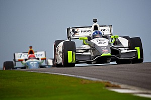 IndyCar Race report Newgarden battles elements, rivals to finish eighth at Barber