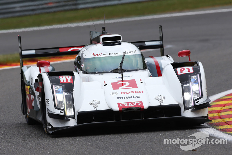 Audi with solid starting base at Spa