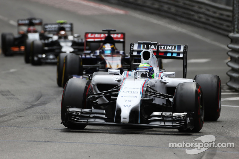 Massa pushes hard to collect points for Williams in Monaco