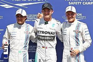 Formula 1 Qualifying report Rosberg leads Williams duo in German GP qualifying