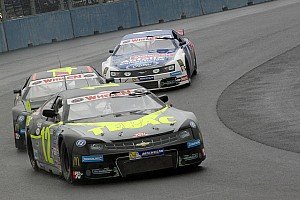 NASCAR Race report Gabillon finds his way back to NASCAR Euro victory lane
