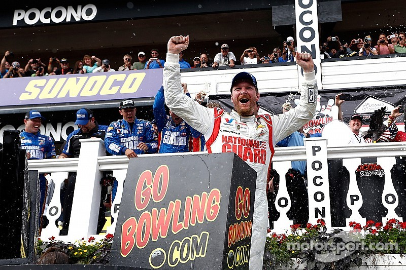 Dale Earnhardt Jr. completes the sweep at Pocono