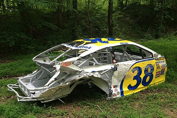 Michael McDowell's car is heading to Dale Jr.'s woods
