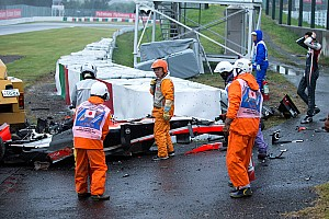 Formula 1 Breaking news Jules Bianchi transported to hospital after crash with track vehicle